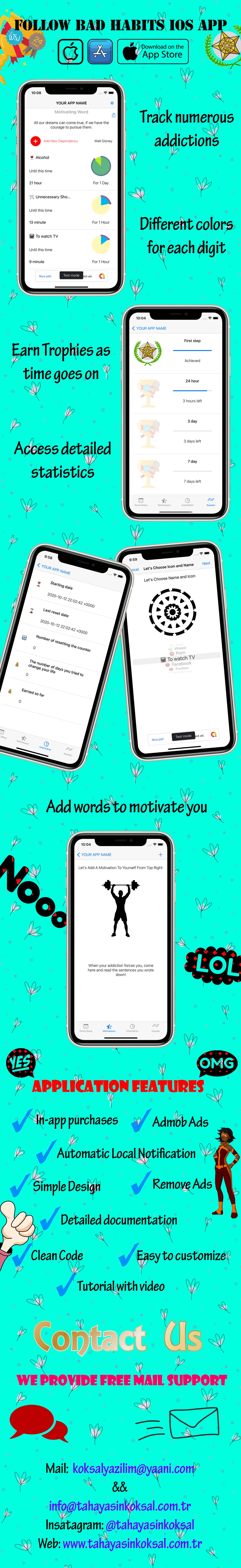 Follow bad habits iOS App - 1